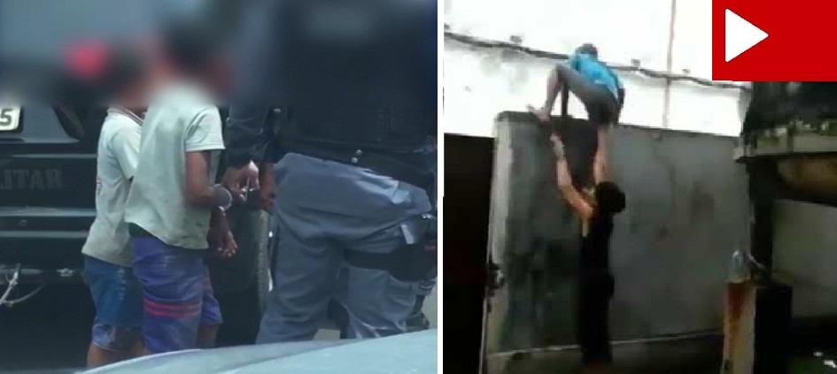 Crianças são amarradas por policiais e levadas à delegacia após assaltar casa