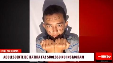 Adolescente do interior do Ceará faz sucesso no Instagram