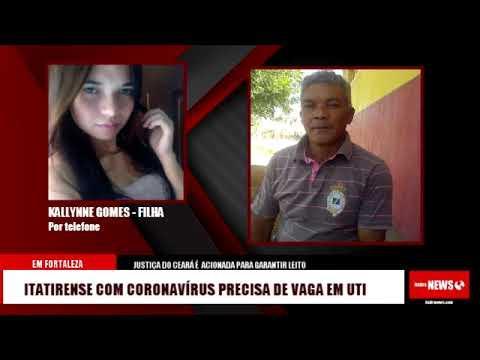 Itatirense com coronavírus em Fortaleza precisa de vaga de UTI